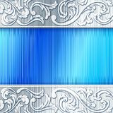 Steel horizontal banner with transparencies Royalty Free Stock Photography