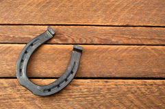 Steel horseshoe. In the photo Royalty Free Stock Photos