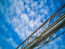 Steel industrial construction in the sky background 2 stock photo