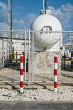 Steel Industrial gas tank for storage of LPG Stock Image