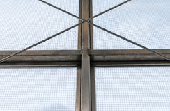 Steel industrial window frame Stock Photography