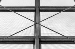 Steel industrial window frame Royalty Free Stock Photos