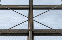 Steel industrial window frame Royalty Free Stock Photography
