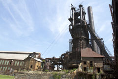 Steel industry blast furnace Royalty Free Stock Photo