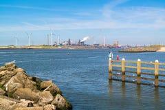 Steel industry in IJmuiden near Amsterdam, Netherlands Royalty Free Stock Image