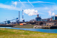 Steel industry in IJmuiden near Amsterdam, Netherlands Stock Photo