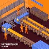 Steel Industry Isometric vector illustration