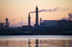 Steel Industry at Late Afternoon Royalty Free Stock Photography