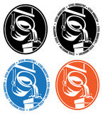 Steel industry logo Stock Photography