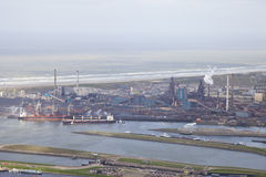 Steel industry at Velsen from above Stock Images