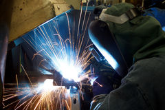 Steel industry welding. Stock Photos