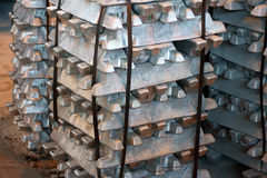 Steel ingots Stock Image