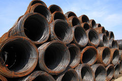 Steel Iron warehouse Royalty Free Stock Image