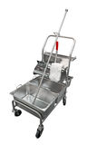 Steel janitor's cart Royalty Free Stock Photography