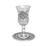 Steel jewish cup isolated Stock Images
