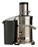 Steel juicer. On a white background stock photos