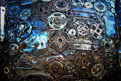 Steel junk. In the factory royalty free stock photo