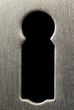 Steel keyhole Royalty Free Stock Photo