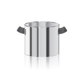 Steel kitchen pot Stock Images