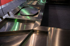 Steel kitchen worktop Stock Image