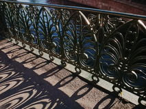 Steel lace of lattices of St. Petersburg Stock Image