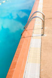 Steel ladder of swimming pool Stock Photography