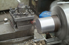 Steel lathe Stock Image