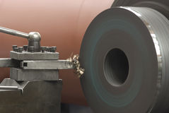 Steel lathe Royalty Free Stock Images