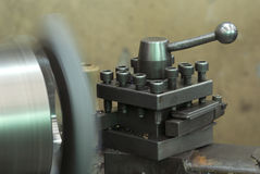 Steel lathe in production Royalty Free Stock Photo