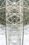 Steel lattice on back of a radio telescope Stock Photos