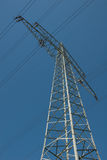 Steel lattice mast Royalty Free Stock Image
