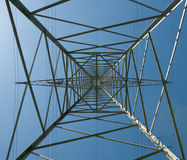 Steel lattice mast Royalty Free Stock Photos