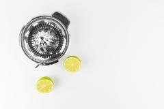 Steel Lemon Squeezer Royalty Free Stock Photography