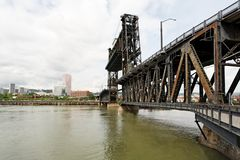 Steel Lift Transportation bridge Stock Photos