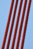 Steel lines of the bridge Royalty Free Stock Photo