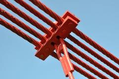 Steel lines of the bridge Royalty Free Stock Photos