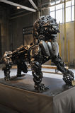 Steel lion at Chengdu Eastern Music Park Royalty Free Stock Image