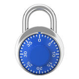 Steel lock Royalty Free Stock Image