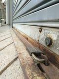 Steel lock for factory door locks Royalty Free Stock Image