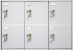 Steel locker Royalty Free Stock Images