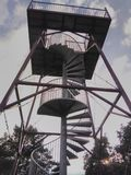 Steel lookout tower at Paalgraven Oss. Lookout Tower at Paalgraven, Oss, The Netherlands Stock Image