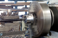 steel machinery and equipment in factory workshop Stock Photo