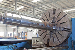 steel machinery and equipment in factory workshop Royalty Free Stock Photos