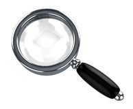Steel magnify glass Stock Images