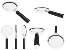 Steel magnifying glass Royalty Free Stock Photos