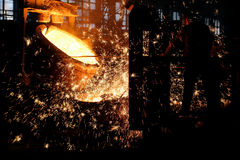 Steel making Royalty Free Stock Photography