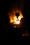 Steel making and crane hook Stock Photos