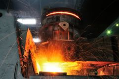 Steel making industries Royalty Free Stock Image