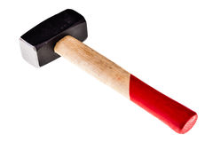 Steel Mallet. A steel mallet isolated over a white background royalty free stock photo