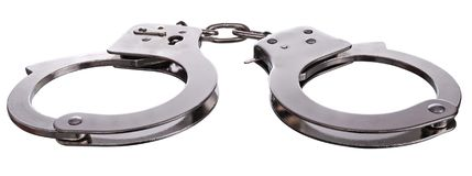 Steel manacles Royalty Free Stock Photos